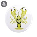 """Crayfish Freshwater Ringed PBFW 3.5"""" Button ("""
