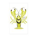 Crayfish Freshwater Ringed PBFW Sticker
