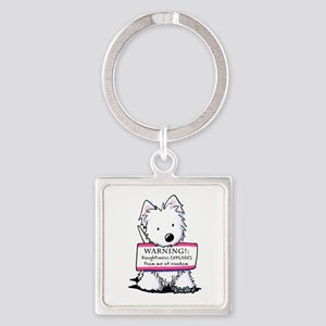 Vital Signs: NAUGHTY Square Keychain