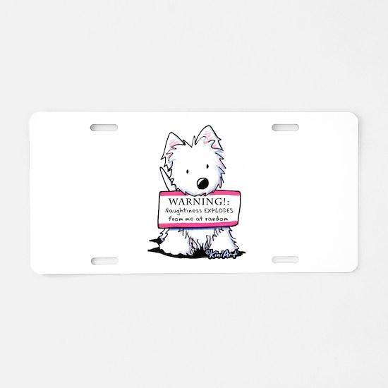 Vital Signs: NAUGHTY Aluminum License Plate