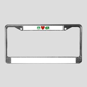 Peace Love Washington License Plate Frame