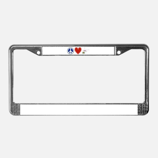 Peace Love West Virginia License Plate Frame