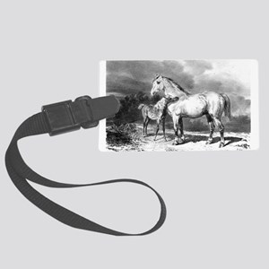 Mama And Baby Horse Luggage Tag