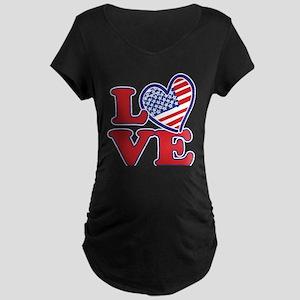 I Love the USA Maternity T-Shirt