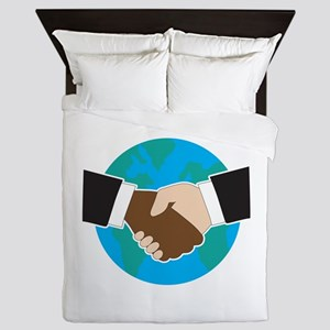 World Hand Shake Queen Duvet