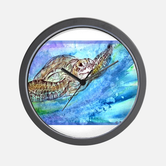 Sea Turtle, Wildlife art! Wall Clock
