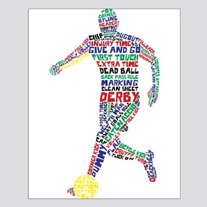 Soccer Typography Player Posters
