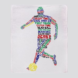 Soccer Typography Player Throw Blanket