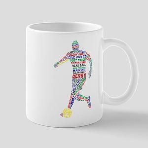 Soccer Typography Player Mug