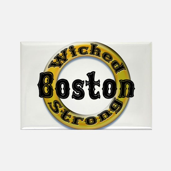Wicked Strong Bruins Rectangle Magnet