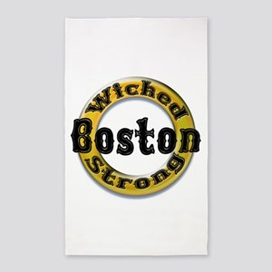 Wicked Strong Bruins 3'x5' Area Rug
