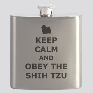 Obey The Shih Tzu Flask