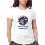 Women's Deluxe T-Shirt (white)   Coffee Party