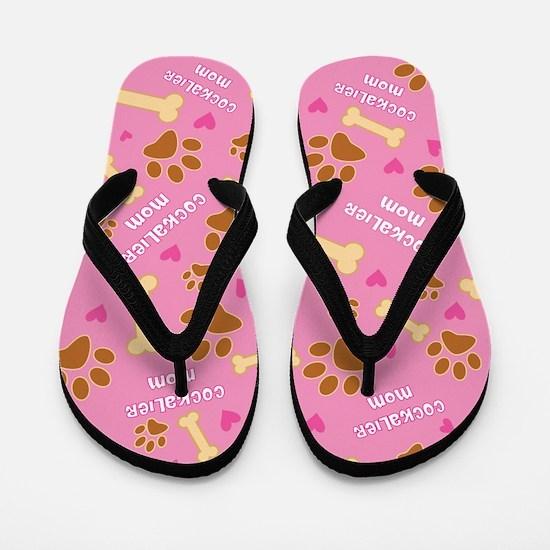 Cockalier Mom Gift Flip Flops
