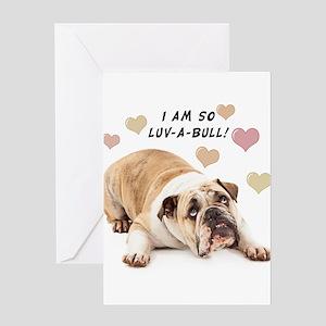 Luv-a-Bull Greeting Card