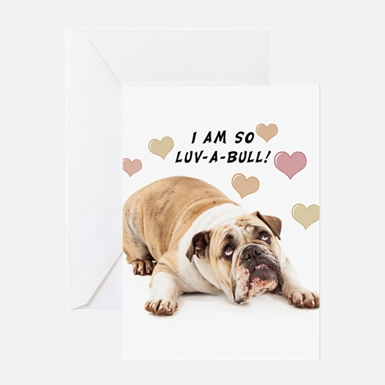 Luv-a-Bull Greeting Card