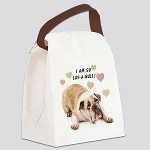 Luv-a-Bull Canvas Lunch Bag