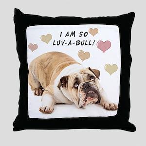 Luv-a-Bull Throw Pillow