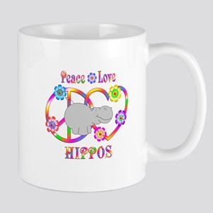 Peace Love Hippos 11 oz Ceramic Mug