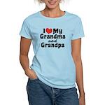 I Love My Grandma and Grandpa Women's Light T-Shir