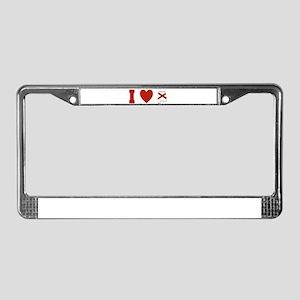 I Love Alabama License Plate Frame