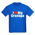 I Love My Grandpa Kids Dark T-Shirt