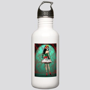 Dia De Los Muertos Stockings Pin-up Water Bottle