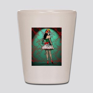 Dia De Los Muertos Stockings Pin-up Shot Glass