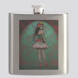 Dia De Los Muertos Stockings Pin-up Flask