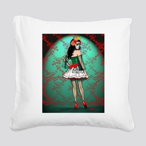 Dia De Los Muertos Stockings Pin-up Square Canvas