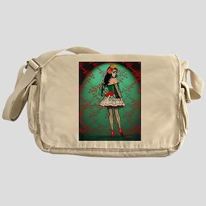 Dia De Los Muertos Stockings Pin-up Messenger Bag