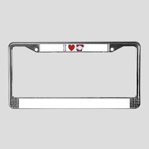 I Love Arkansas License Plate Frame