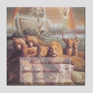 """Noah's Ark"" The Promise Fine Art Tile Coaster"