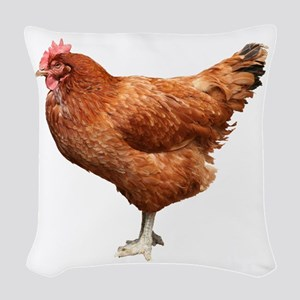 Red Hen Woven Throw Pillow