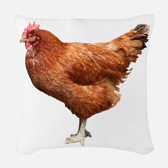 Red Hen Woven Throw Pillow