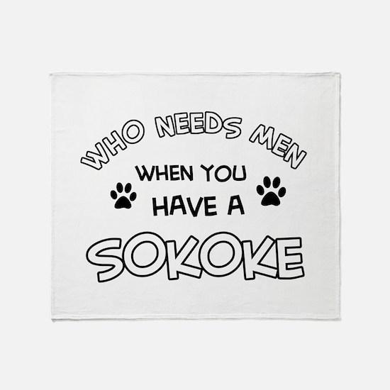 Sokoke designs for the cat lover Throw Blanket