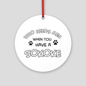 Sokoke designs for the cat lover Ornament (Round)