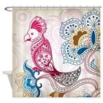 Floral Cockatoo Shower Curtain