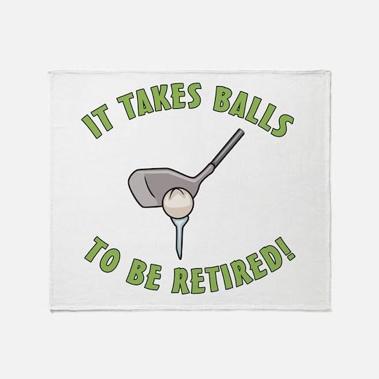 Funny Retired Golfer Throw Blanket