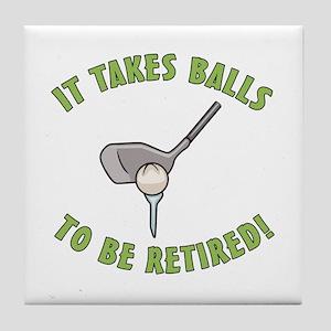 Funny Retired Golfer Tile Coaster