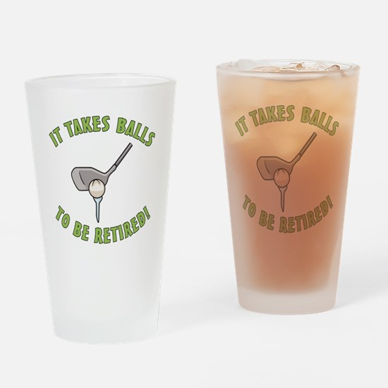 Funny Retired Golfer Drinking Glass