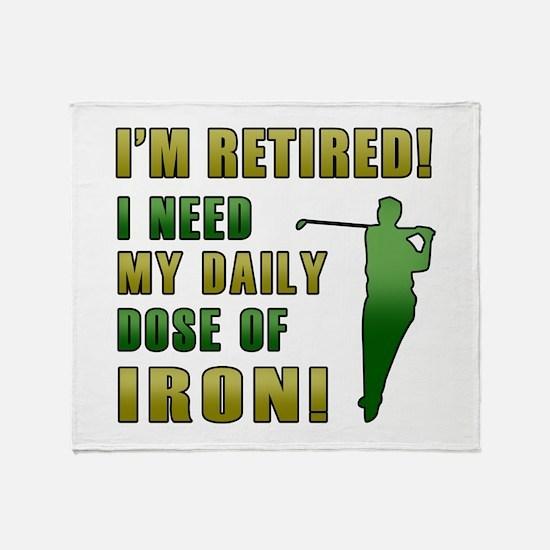 Funny Golfing Retirement Throw Blanket