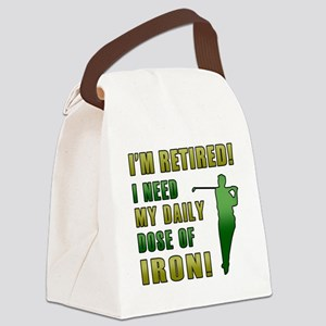 Funny Golfing Retirement Canvas Lunch Bag