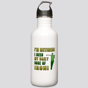 Funny Golfing Retirement Stainless Water Bottle 1.