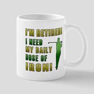 Funny Golfing Retirement Mug
