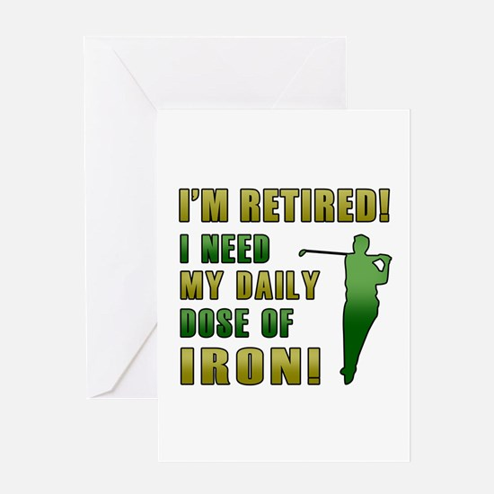 Funny Golfing Retirement Greeting Card