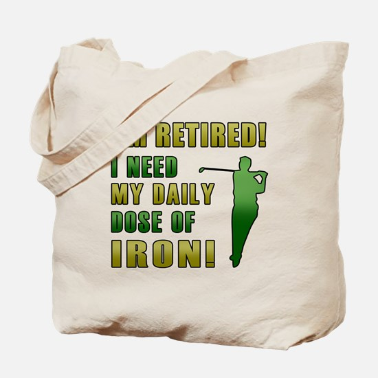 Funny Golfing Retirement Tote Bag