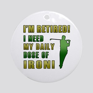 Funny Golfing Retirement Ornament (Round)