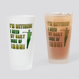Funny Golfing Retirement Drinking Glass