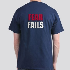 FEAR FAILS T-Shirt in USA Blue (BACK print)